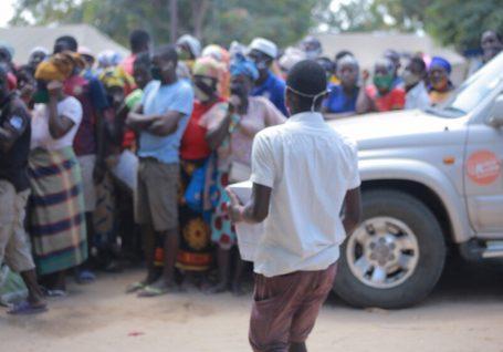 Deslocados em Moçambique: o nosso trabalho no terreno